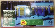 Constant On 100-Count Constant White Incandescent Icicle Lights Indoor Outdoor