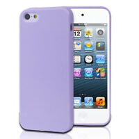 TPU Jelly Rubber Gel Skin Case Cover For Apple iPhone 5 5G 5th Gen Purple