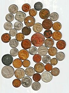 Bulk Lot (0.4 Pounds) of FOREIGN WORLD COINS Some Early 20thC,Most Mid-20th IV