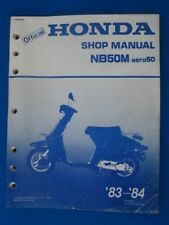 Honda 1983 1984 NB50M AERO 50 Original Factory Service Shop Repair Manual  P270