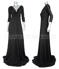 $1066 JUST CAVALLI BY ROBERTO CAVALLI GOWN BLACK JERSEY DRESS CHAIN DETAIL SMALL