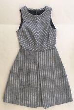 NWD J Crew Chevron Striped Dress Linen Size 00 $148
