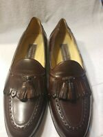 Johnston & Murphy Burgundy Leather Loafer Slip On Tassel Shoes Size 9M EUC