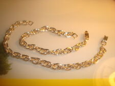 "#2  Classic ROPE design Lightweight 7"" Shiny Gold Tone aluminum CHARM Bracelets"