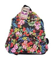 Backpack Caliware Floral Cotton Day Bag Multi Color NWT Flowers Access Bag'nPack