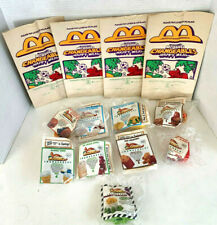 """Comp Set of 8 + U3 1990 """"McDINO CHANGEABLES"""" McDon Happy Meal Toys NSB + 4 Bags"""