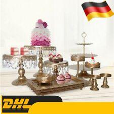 12 Stück Kristall Hochzeitstorte Stand Dessert Cupcake Holder Display Geburtstag
