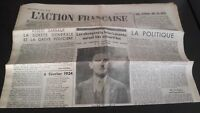 JOURNAL NATIONALISTE L'ACTION FRANCAISE 17 FERIER 1934 N° 48 ABE