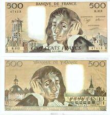 Gertbrolen 500 FRANCS PASCAL du 1-2-1990    R. 312 Billet Numéro  779147413