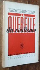 1936  EO Le Corbusier Gromaire Léger Lurçat Aragon Cassou QUERELLE DU RÉALISME