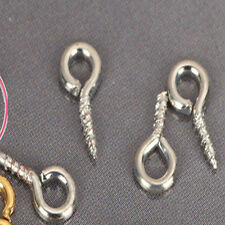100Pc Screw Eye Pin Bails Top Drilled Connectors Pendant Bail Loop Make 10x4mm