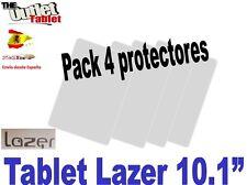"Pack 4 Protectores pantalla para Tablet LAZER de 10.1"" 10 pulgadas Universal"