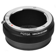 Fotga Nikon F Mount Lens to Canon EOS M EF-M Mirrorless Camera Body Adapter Ring