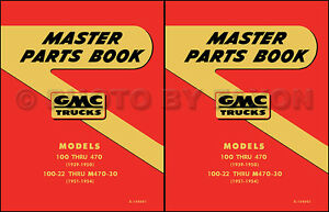 GMC Parts Book 1951 1952 1953 1954 1955 1st Series Pickup and Truck Part Catalog