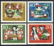 Germany 1962 Fairy Stories/Welfare/Snow White/Folk Tales/Owl 4v set (n28322)