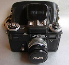 Soviet Contax copy KIEV 4M BLACK 35mm RF camera w/ Helios-103 1.8/53mm lens EXC.