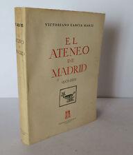 El Ateneo de Madrid 1835-1935 Marti 1848 History of Spanish Cultural Institution