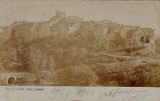 #GALLICANO NEL LAZIO: PANORAMA 1904- CART. FOTOGRAFICA AL BROMURO- VIRATA