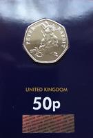 2018 New Peter Rabbit Beatrix Potter 50p pence Coin BU Brilliant Uncirculated