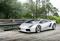 Silver Lamborghini Gallardo - Car Poster Print - Exotic Car Photo - Wall Art