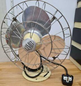 "VINTAGE LIMIT VERITY 10 "" Art deco Desk Fan Untested"