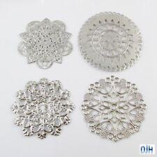 8pcs Metal Filigree Mandala Embellishments Cards Scrapbooking Hair Clips