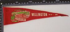 VINTAGE WELLINGTON NZ NEW ZEALAND TOURIST SOUVENIR PENNANT FELT CLOTH WALL FLAG