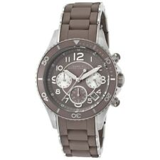 NEW MARC JACOBS MBM2595 ROCK GREY SILICONE STAINLESS CHRONOGRAPH UNISEX WATCH