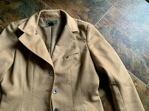 Eddie Bauer Wool Angora Rabbit Hair Jacket Blazer CAMEL Tan Beige Casual size M
