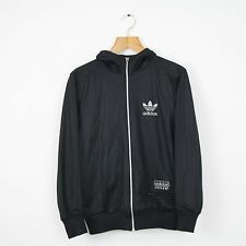 Vintage ADIDAS Chile 62 Black Hoodie Hooded Jacket | Retro Original Trefoil | XS