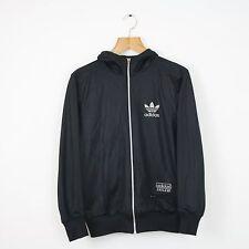 Vintage ADIDAS Chile 62 Black Hoodie Hooded Jacket | Retro Original Trefoil | XS