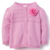 NWT Gymboree California Dreamers Baby Girls Pink Cardigan Sweater
