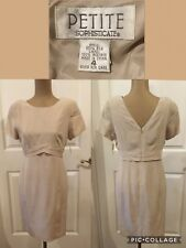NEW! Petite Sophisticate Dress Size 4 100% Silk Beige Lined V Back New With Tags