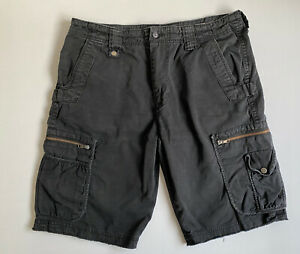 French Connection Size 34 Men Shorts Black Cargo Casual Shorts