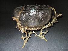 Coupe en verre avec monture en bronze