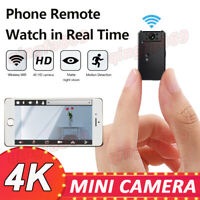 Indoor Mini Spy Camera Wireless Wifi IP Home Security Cam HD 4K Video DVR HOT