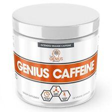 GENIUS CAFFEINE – Extended Release Microencapsulated Caffeine Pills All Nat...