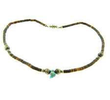 Vintage Heishi Shell Turquoise Necklace 15.5 inch
