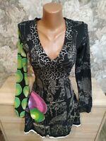 Desigual women's dress size XS black color