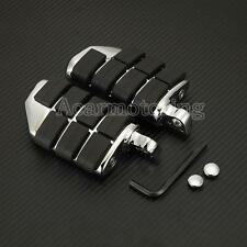 US Chrome Motorcycle Highway Footpeg Foot Pegs Rest For Harley Touring Road King