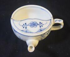Antique WT&C German Porcelain Blue Onion Invalid Infant Handled Feeder