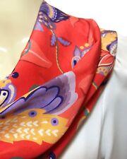 Liberty of London Handmade Silk Crepe de Chine Infinity Scarf, Red Weavers Bloom