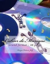 Cahier de Musique Grand format 48 pages: Design Original Type 6 (French Edition)