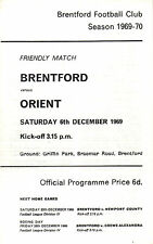 1969/70 Brentford v Leyton Orient, friendly, PERFECT CONDITION
