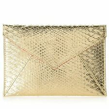 SKINN Cosmetics Limited Edition Holiday Golden Clutch Bag NEW