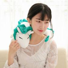 Anime Haku White Dragon Plush Doll Toy Kawaii Pillow Relieve Stress Neck U-Shape