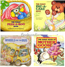 Pudgy Book Wheels on the Bus,Peek A Boo,Pat A Cake,Mother Goose 4 board bks NEW