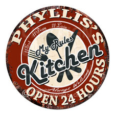 CWMK-0093 PHYLLIS'S KITCHEN Rules Tin Sign Mother's Day Christmas Gift For Woman