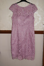 Adrianna Papell Lilac Luxury Lace Dress Wedding Prom Cocktail Party BNWT 8 £170