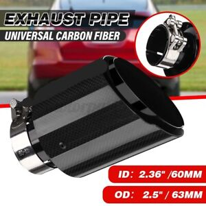 """2.5"""" 63mm-101mm Universal Auto Car Rear Glossy Exhaust Pipe Tail Muffler End Tip"""